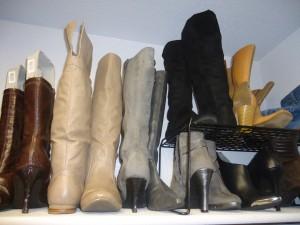 boots shoe organization and storage