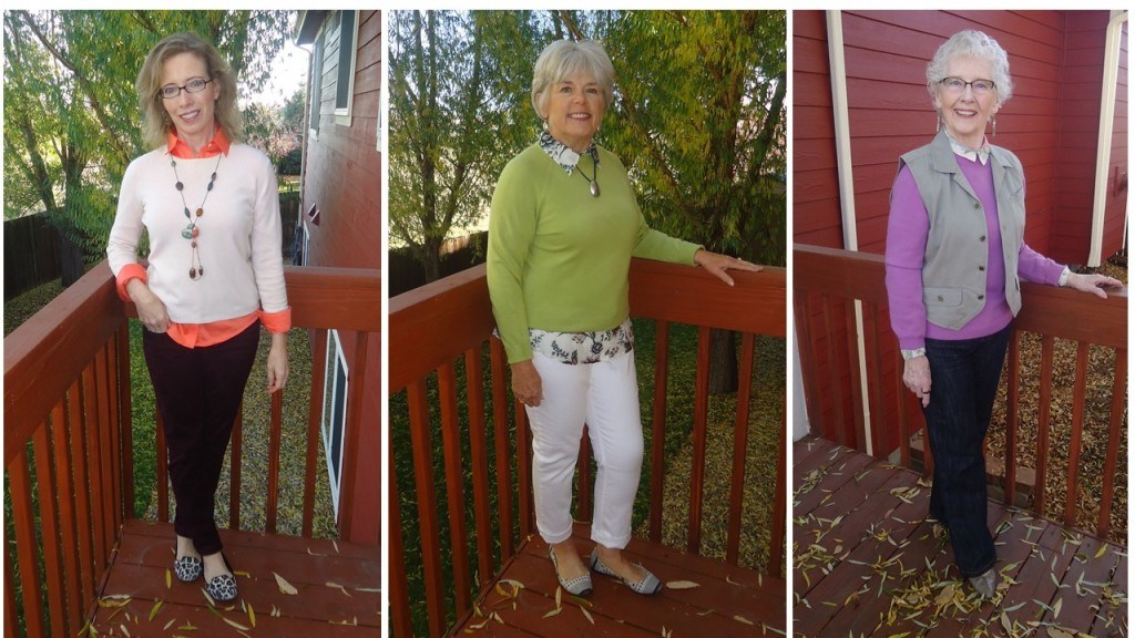 all three 2 crew neck sweaters for the 50's, 60's & 70's
