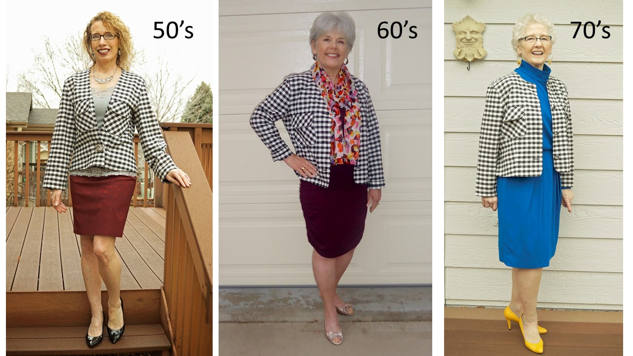 Gingham jacket for the 50's, 60's, & 70's