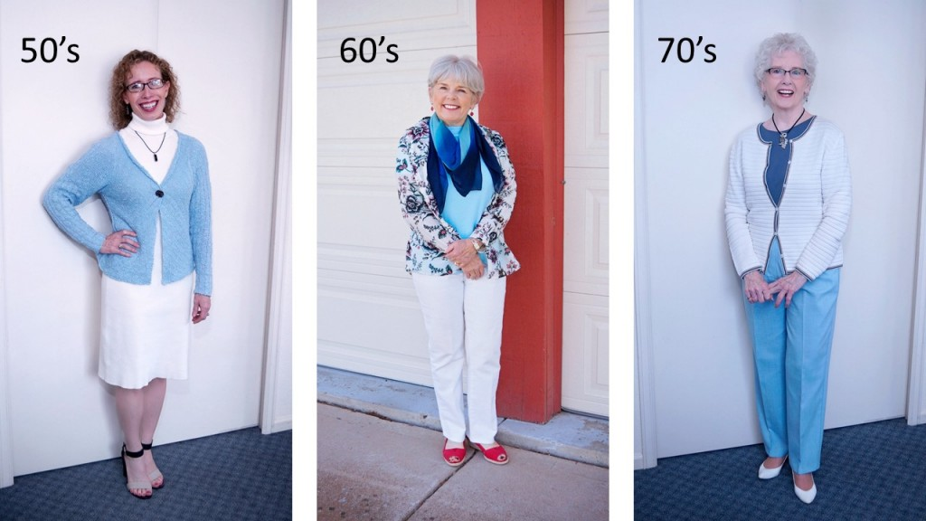 Light Blue for the 50's, 60's, & 70's.