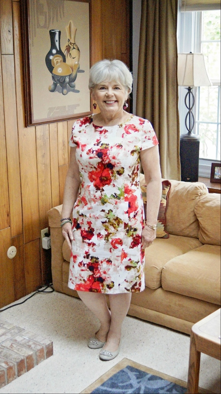 Summer Wedding floral Dress for 60+ women