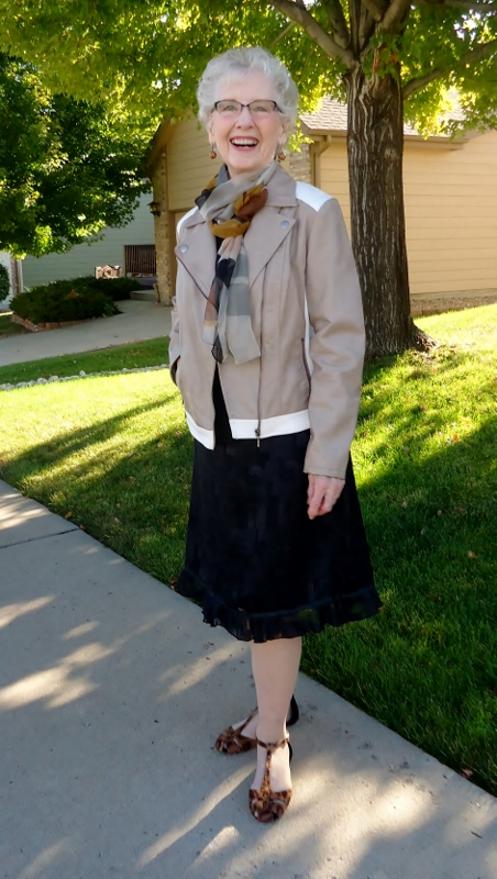 Little Black Dress for the Fall for women in their 50's, 60's & 70's.
