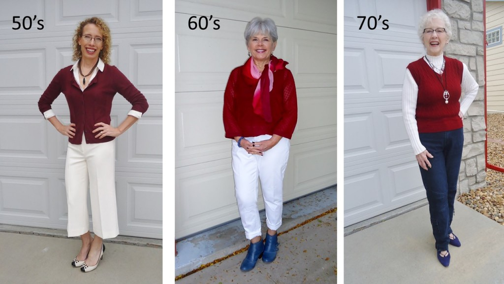 Burgundy for the 50's. 60's & 70's.