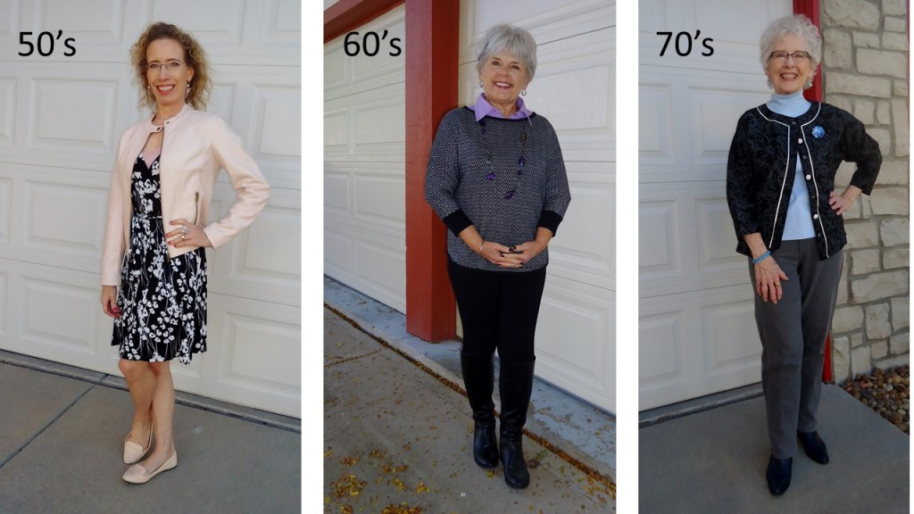 Black & White for the 50, 60, & 70 Year Old Women with Pastels. Styling Older Females