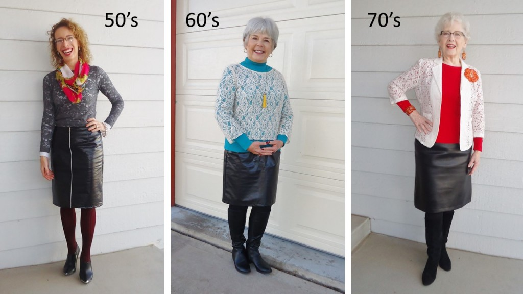 Leather skirt for the 50's, 60's, & 70's.
