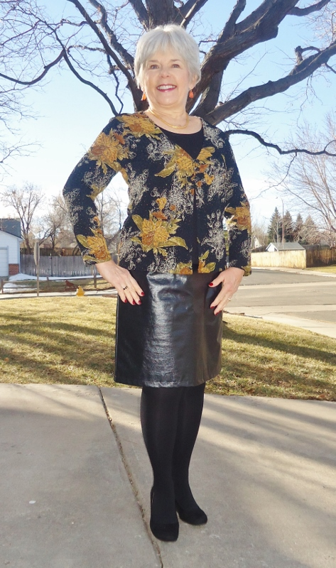 Leather Skirt 2 With Floral Jodie S Touch Of Style