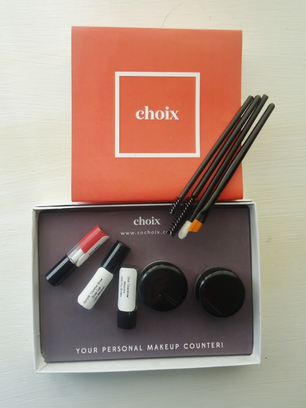 Choix makeup sampling online service