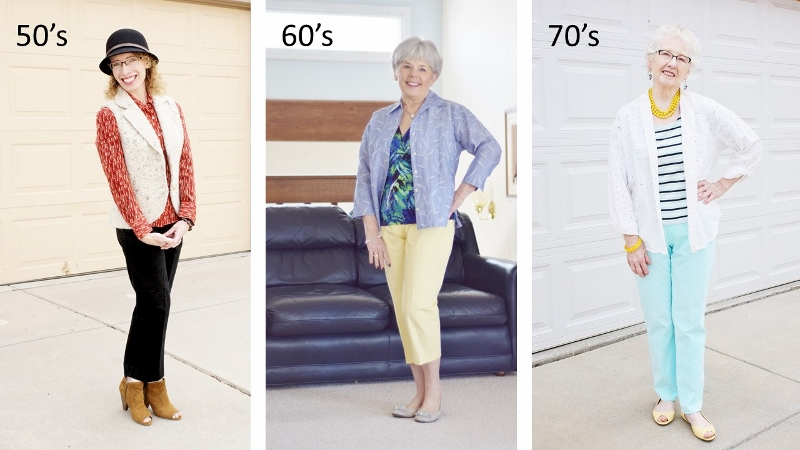 Print Mixing for the 50, 60 & 70 year old women.