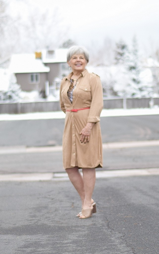 Shirt dress for women in their 50's, 60's & 70's