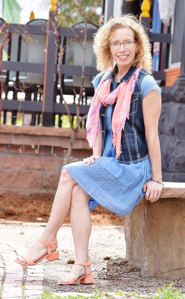 Denim Vest for the 50, 60 & 70 year old woman