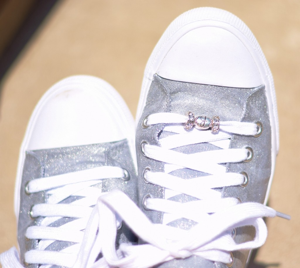 DIY Silver Sneakers.