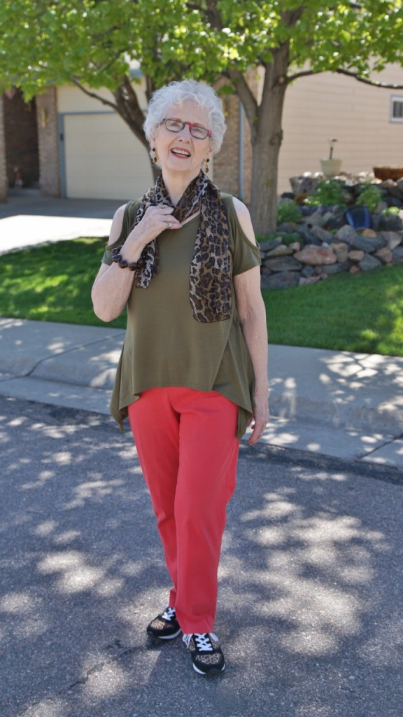 open shoulder trend for women in their 70's.