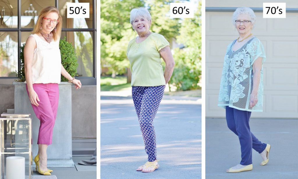 Yellow Shoes for women in their 50's, 60's, & 70's.