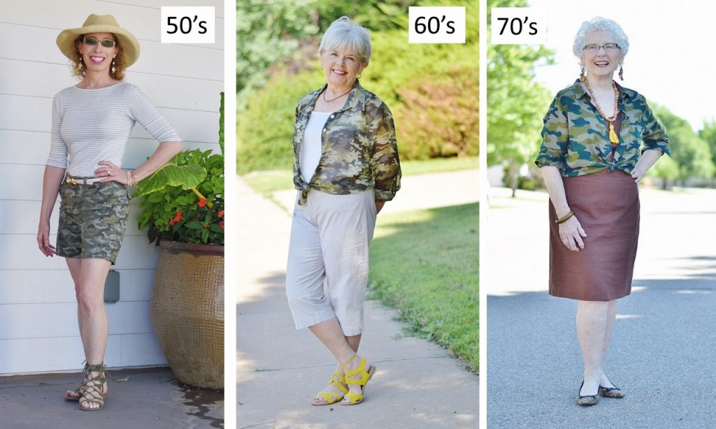The Camo print for any age woman.