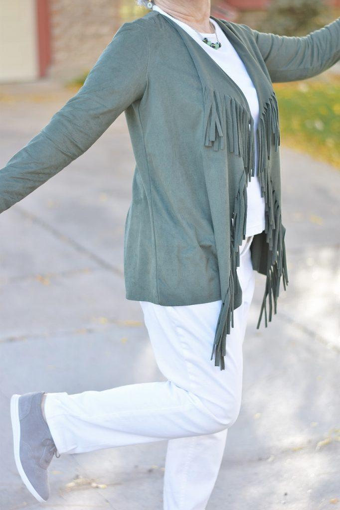 Metrostyle fringe Jacket for 3 generations.