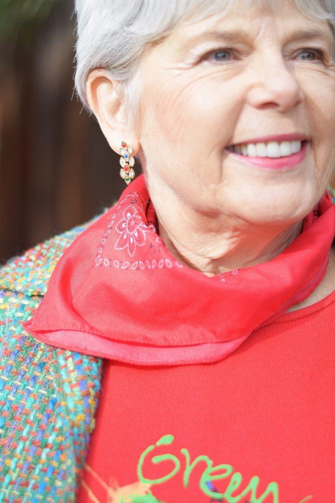Women over 50 Wearing a Tweed Jacket.