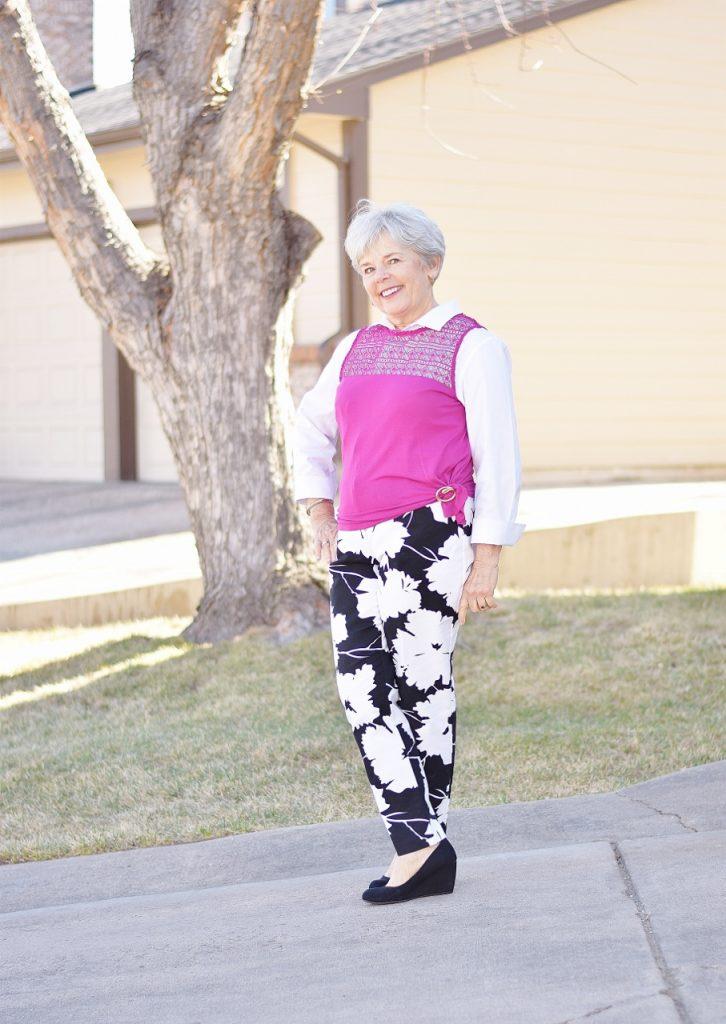 The white blouse for older Women.