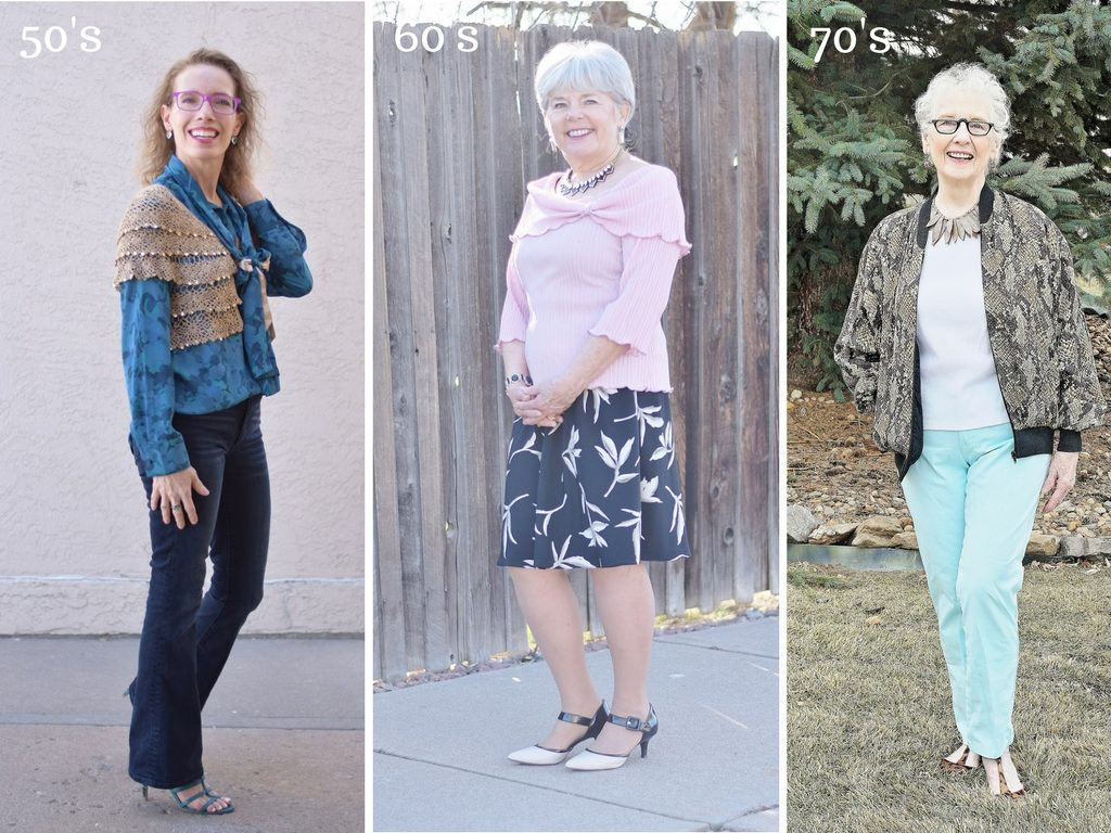 Restyling Pieces of clothing for Women over 50 or shopping your closet