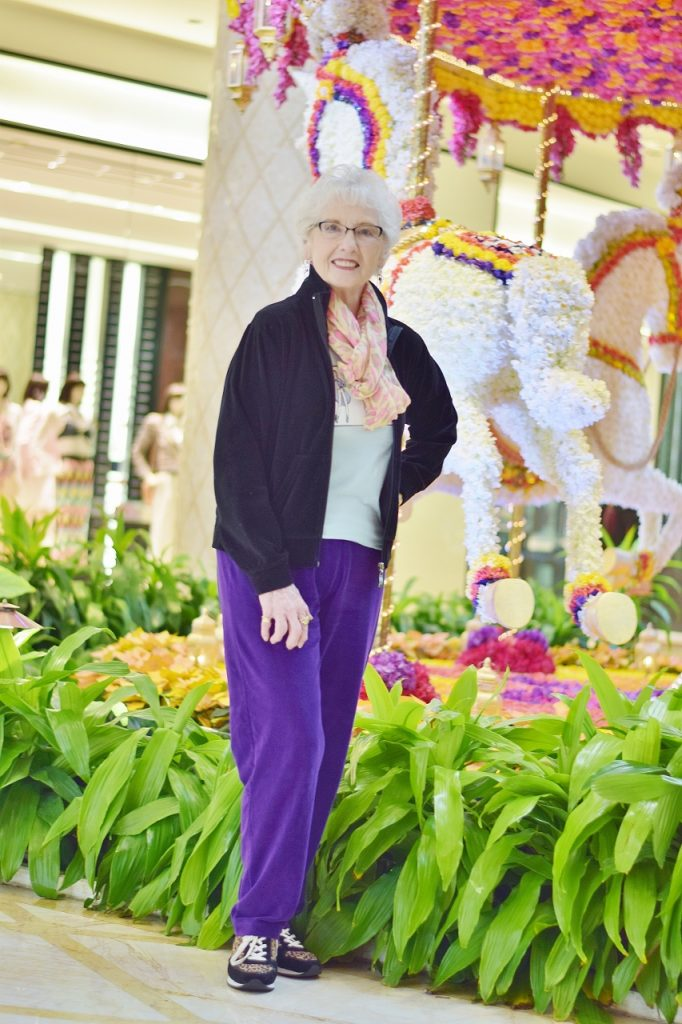 Tying scarves creatively for women over 70