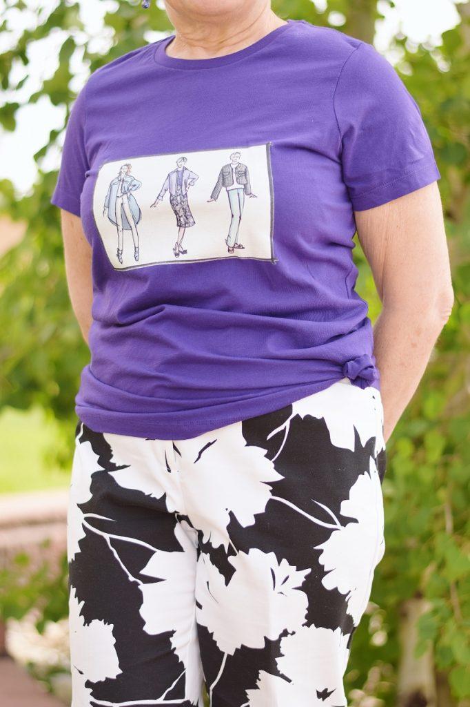 Sixty Plus Women styling t-shirts