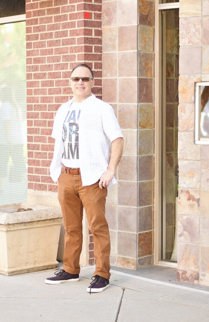 Men's Style including their graphic tee say about life