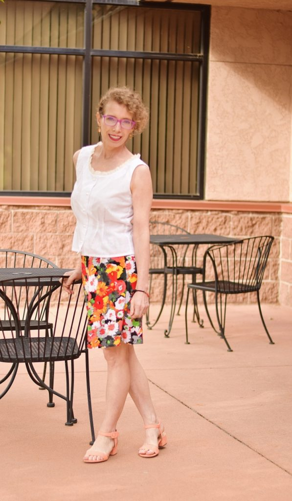 Floral skirt from classic to modern