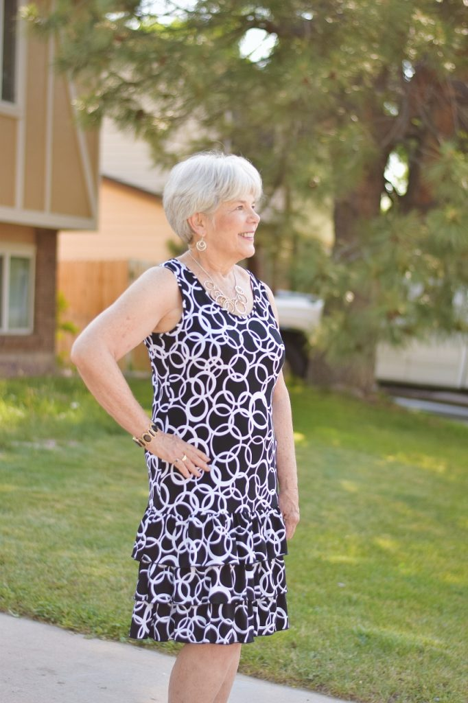 Women 60+ Make a Dress Different with shoes