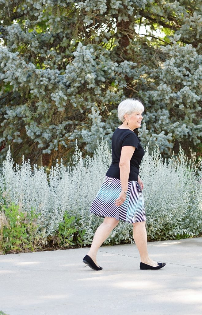 Skirt styled classic to modern for women over 60