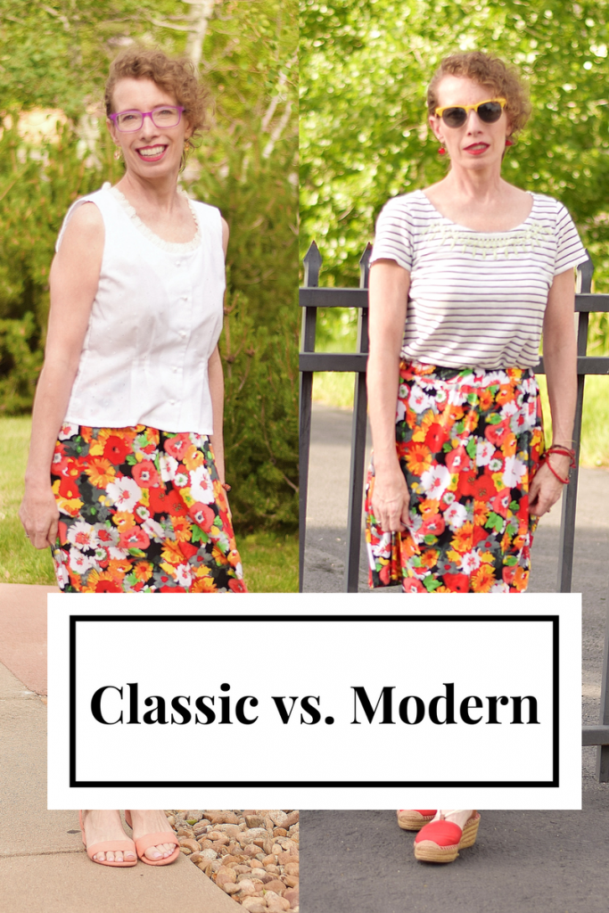 Women over 50 taking a skirt from Classic to modern