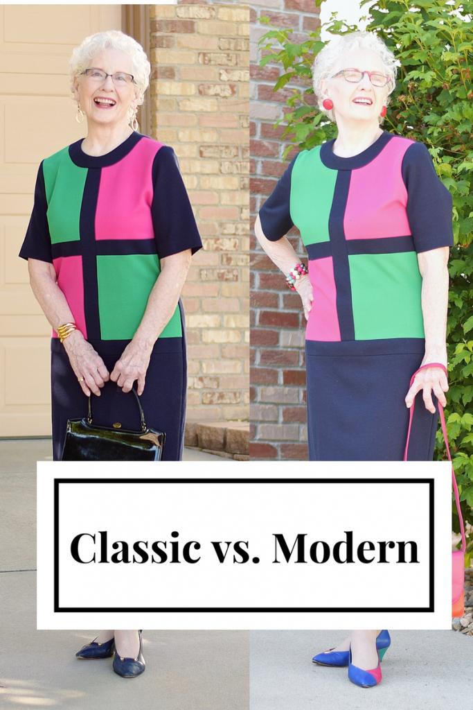 Classic vs modern dress style by Changing out the shoes
