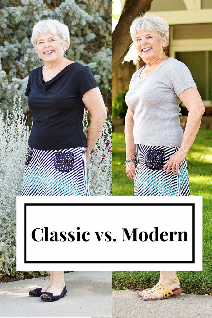 Women over 60 styling classic to modern separates