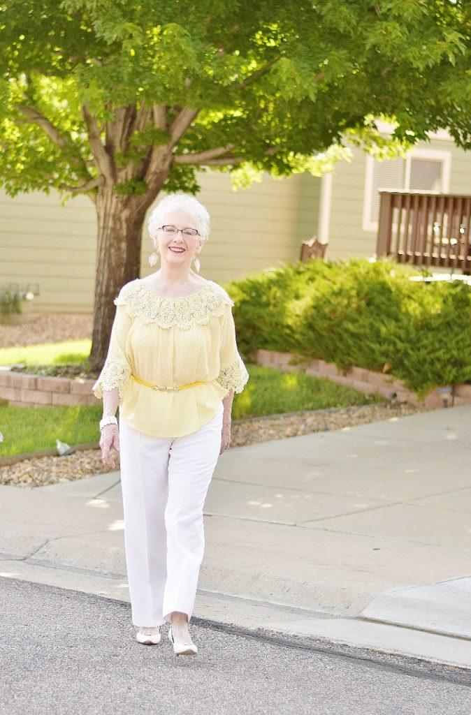 Summer shirt on women over 70