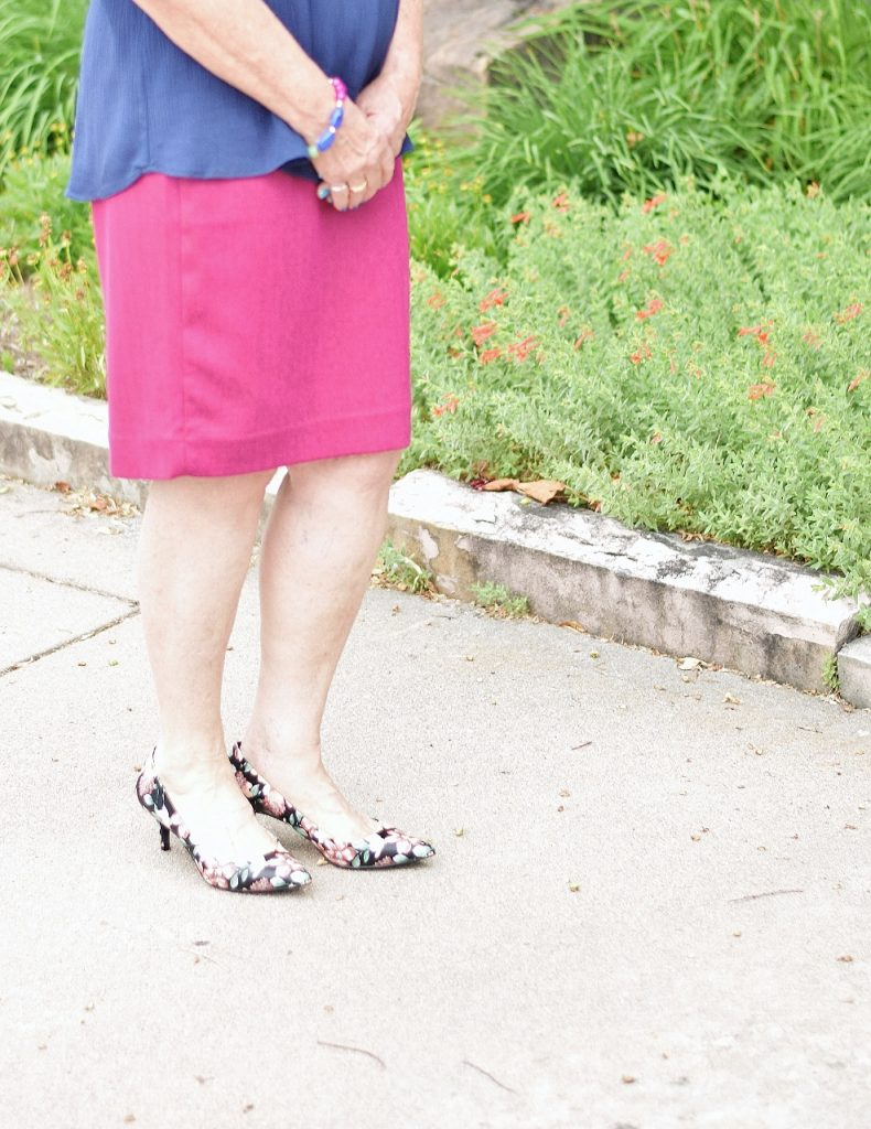 Dress up the summer shirt with a skirt