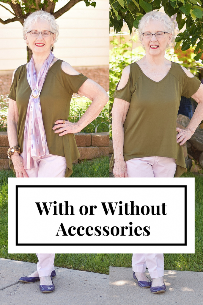 Accessories with solid colors for 70+ women