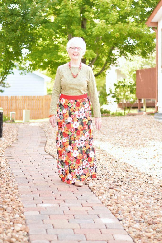 Summer skirts for fall women over 70