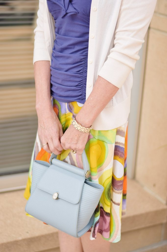 Layering a Sweater with a summer skirt