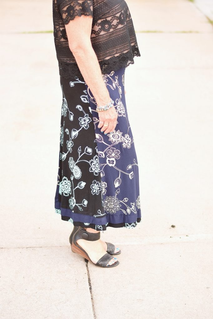 Summer skirts transitioned to fall