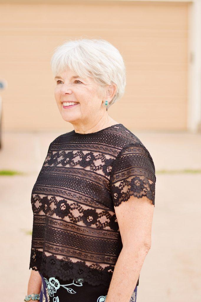 Women 60+ wearing summer skirts in fall