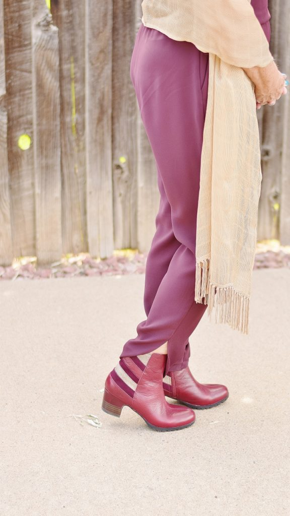 fall shoes with Jambu with a jumpsuit