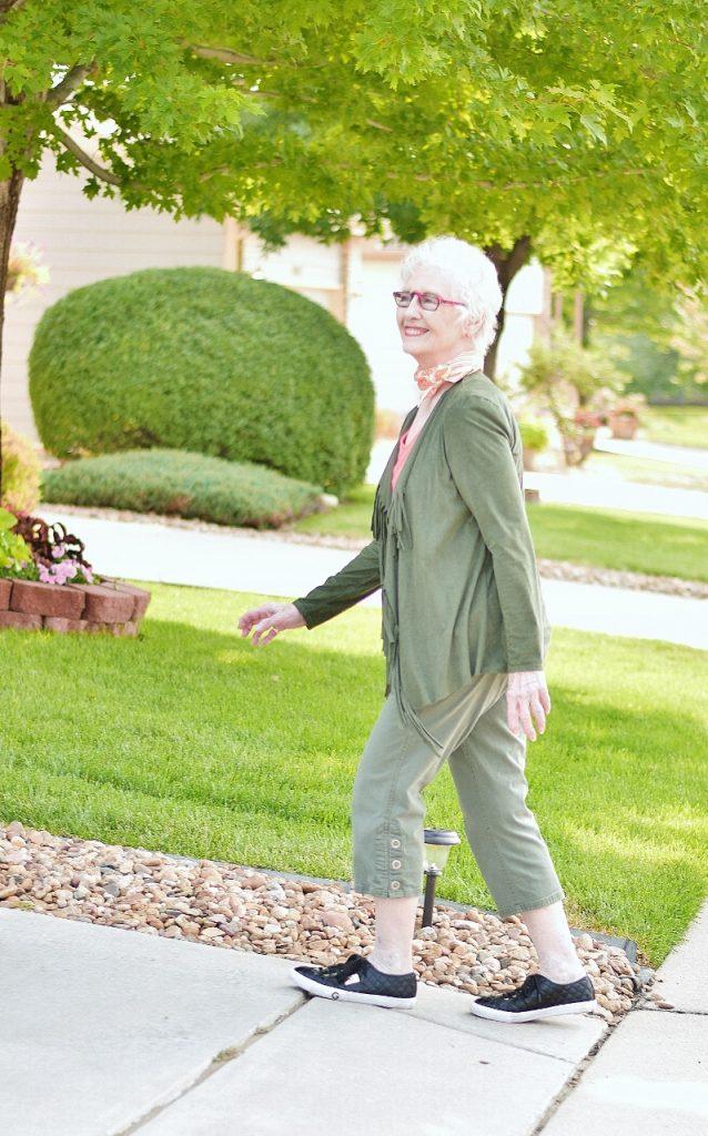 Women 70+ and athletic capri style