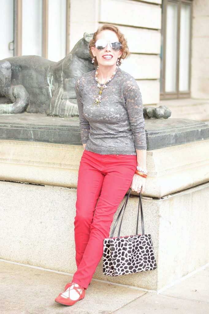 Women over 50 wearing sentimental items