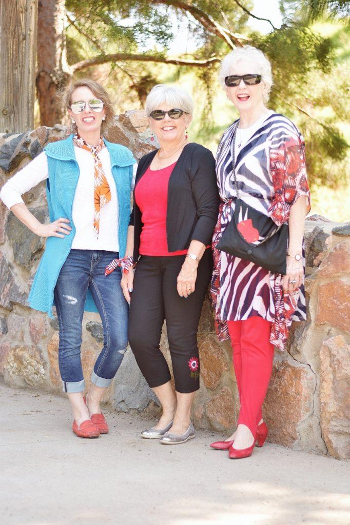 older women change up an accessory