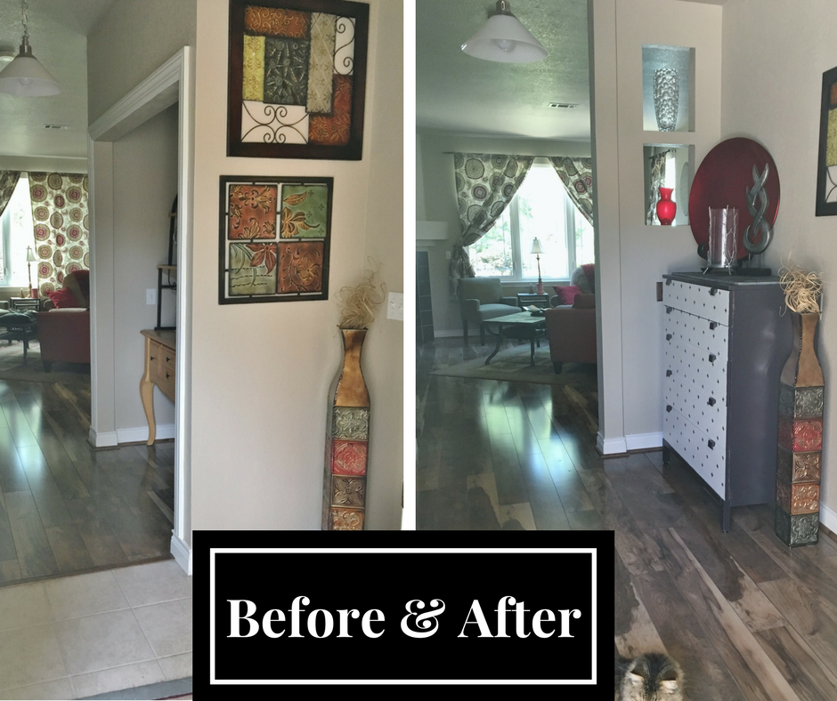 Home Entry way before and after