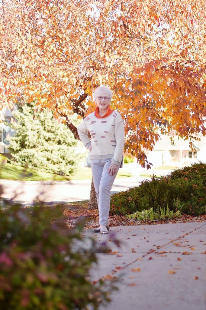 Orange for fall for women over 70