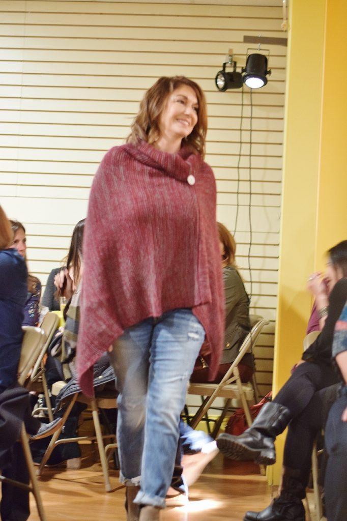 Women 50+ with fall fashion