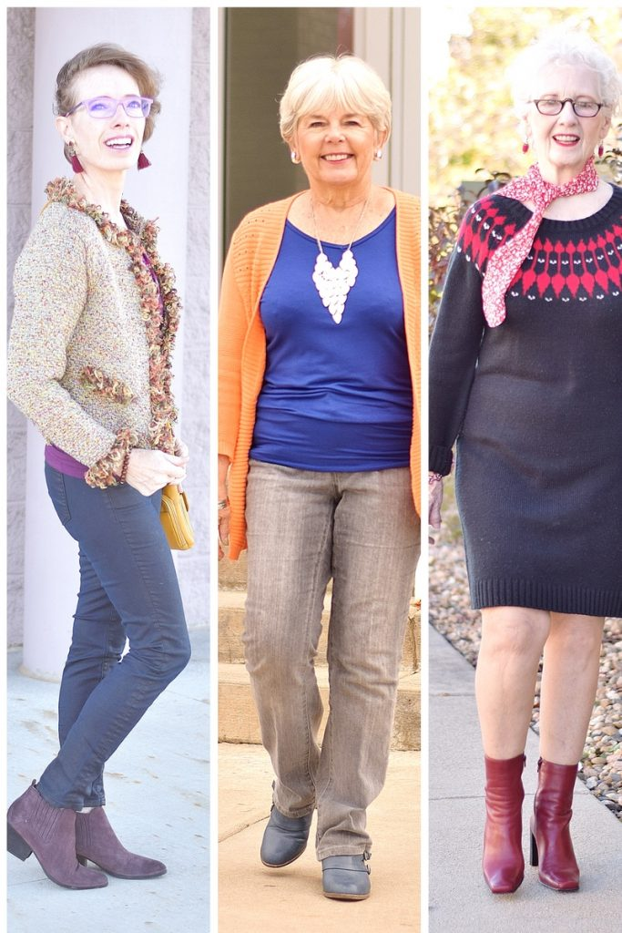 Sweater Weather for Women of Many Generations in their 50's, 60's, & 70's