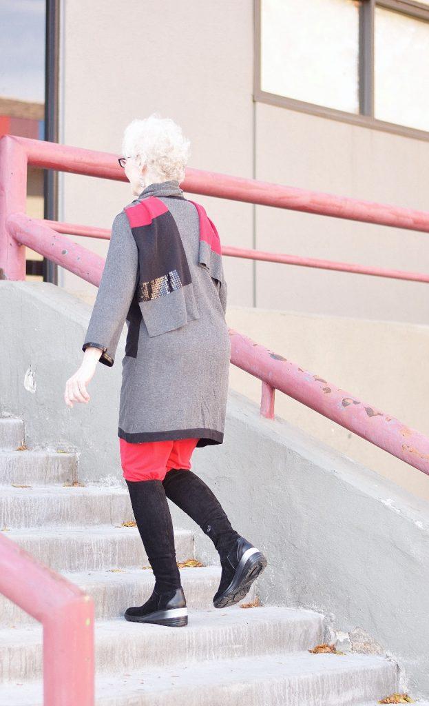 Older women wearing OTK boots
