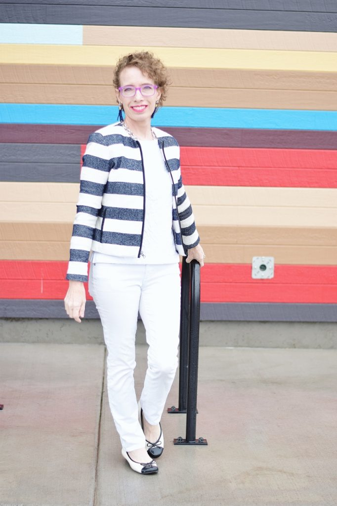 stripes for women over 50