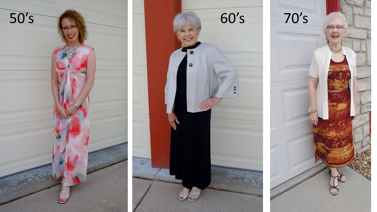 Wearing our Maxi Dress for a Dressy Occasion for Women over 50