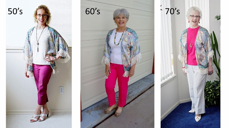 d77b47e1a336 Kimonos Worn to make any Outfit Smart for Women over 50